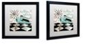 "Trademark Global Color Bakery 'Fifties Kitchen Iii' Matted Framed Art, 16"" x 16"""
