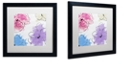 "Trademark Global Color Bakery 'Kasumi Four' Matted Framed Art, 16"" x 16"""