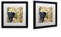 "Trademark Global Color Bakery 'Vino Italiano Iii' Matted Framed Art, 16"" x 16"""