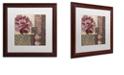 "Trademark Global Color Bakery 'Patch Work Brocade I' Matted Framed Art, 16"" x 16"""