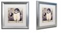 "Trademark Global Color Bakery 'Moon Owl' Matted Framed Art, 16"" x 16"""