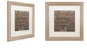 "Trademark Global Color Bakery 'Bon Mots Ii' Matted Framed Art, 16"" x 16"""