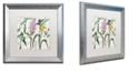 "Trademark Global Color Bakery 'Softly Ii' Matted Framed Art, 16"" x 16"""