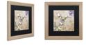 "Trademark Global Color Bakery 'Winged Tapestry Iv' Matted Framed Art, 16"" x 16"""
