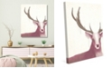"""Creative Gallery Prince Of The Forest - Deer Rose 20"""" X 24"""" Canvas Wall Art Print"""