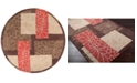 Surya Cosmopolitan COS-8889 Burnt Orange 8' Round Area Rug