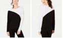 INC International Concepts INC Long-Sleeve Colorblocked Dolman Top, Created for Macy's
