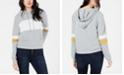 Hippie Rose Juniors' Colorblocked Pullover Hoodie Sweatshirt