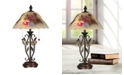Dale Tiffany Hand Painted Crystal Leaves Table Lamp