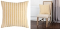 """Rizzy Home 20"""" x 20"""" Ticking Stripe Down Filled Pillow"""