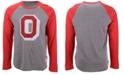 Retro Brand Men's Ohio State Buckeyes Colorblock Raglan Long Sleeve T-Shirt