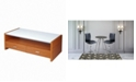 New Spec Inc Coffee Table with Tempered Glass and MDF Board