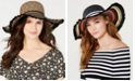 Betsey Johnson Steve Madden Mixed Texture Straw Floppy Hat