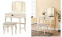 Linon Home Decor Brinley Vanity Set with Bench and Mirror