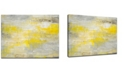"Ready2HangArt 'Yellow Breeze' Canvas Wall Art, 20x30"""