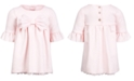 First Impressions Baby Girls Ponté-Knit Bow Dress, Created for Macy's