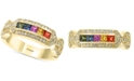 EFFY Collection EFFY® Multi-Sapphire (1/2 ct. t.w.) and Diamond (5/8 ct. t.w.) Ring in 14k Gold