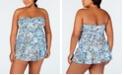 Lauren Ralph Lauren Plus Size Paisley Printed Tummy-Control Underwire Swimdress