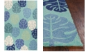 "Kas Harbor Palms 4228 Turquoise 3'3"" x 5'3"" Indoor/Outdoor Area Rug"
