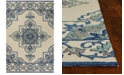 "Kas Harbor Serafina 4238 Ivory/Blue 7'6"" x 9'6"" Indoor/Outdoor Area Rug"