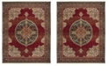 Safavieh Kashan Red and Blue 8' x 10' Area Rug