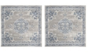 "Safavieh Brentwood Light Gray and Blue 6'7"" x 6'7"" Square Area Rug"