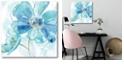 "Courtside Market Light Blue Flower II Gallery-Wrapped Canvas Wall Art - 16"" x 16"""
