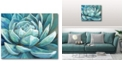 """Courtside Market Cerulean Succulent Gallery-Wrapped Canvas Wall Art - 16"""" x 20"""""""