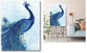 """Courtside Market The Blue Peacock Gallery-Wrapped Canvas Wall Art - 16"""" x 20"""""""