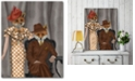 """Courtside Market Fox Couple 1930s Gallery-Wrapped Canvas Wall Art - 16"""" x 20"""""""