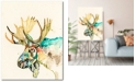 """Courtside Market Watercolor moose Gallery-Wrapped Canvas Wall Art - 16"""" x 20"""""""