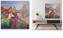 """Courtside Market The Camel and The Llama Gallery-Wrapped Canvas Wall Art - 16"""" x 16"""""""