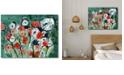 "Courtside Market Modern Garden Gallery-Wrapped Canvas Wall Art - 18"" x 24"""