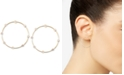 "Zenzii Crystal Studded Small 1"" Small Hoop Earrings"