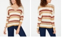 American Rag Juniors' Striped Open-Knit Sweater, Created for Macy's