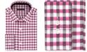Sean John Men's Big & Tall Classic/Regular Fit Pink Check Dress Shirt