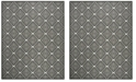 Safavieh Linden Light Gray and Charcoal 9' x 12' Area Rug