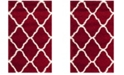 Safavieh Hudson Red and Ivory 3' x 5' Area Rug