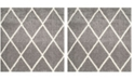 """Safavieh Montreal Gray and Ivory 6'7"""" x 6'7"""" Square Area Rug"""