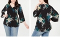 Style & Co Plus Size Printed Wrap Top, Created for Macy's
