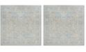 Safavieh Windsor Sea foam and Blue 6' x 6' Square Area Rug