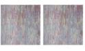 Safavieh Windsor Aqua and Dark Pink 6' x 6' Square Area Rug