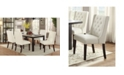 Benzara Upholstered Button Tufted Leatherette Dining Chair, Set of 2