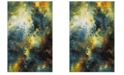 "Safavieh Galaxy Blue and Multi 2'7"" x 5' Area Rug"