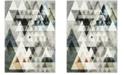 "Safavieh Porcello Gray and Blue 6'7"" x 9' Area Rug"