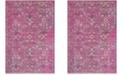 "Safavieh Artisan Fuchsia and Anthracite 6'7"" x 9' Area Rug"
