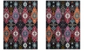 "Safavieh Cherokee Black and Red 2'3"" x 8' Runner Area Rug"