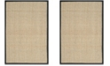 Safavieh Natural Fiber Natural and Black 10' x 14' Sisal Weave Area Rug