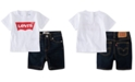Levi's Baby Boys 2-Pc. T-Shirt & Denim Shorts Set, Created for Macy's