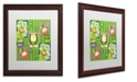 "Trademark Global Jennifer Nilsson St Patty Collage Matted Framed Art - 16"" x 20"" x 0.5"""